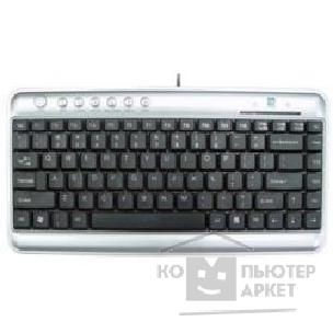 Клавиатура A-4Tech Keyboard A4Tech KLS-5UP, USB+PS/ 2, серебристо-черный мини, Slim, 7 доп клав.