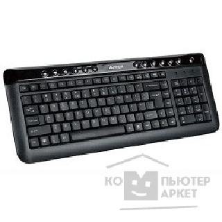 Клавиатура A-4Tech Keyboard A4Tech KL-40, USB чёрная Slim, провод. кл-ра.