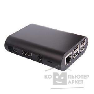 Raspberry 41433 Корпус PI 3/PI 2 model B/ model B+ (Black) овальный, на винтах (41433)/Raspberry Pi PI 3/PI 2 41433