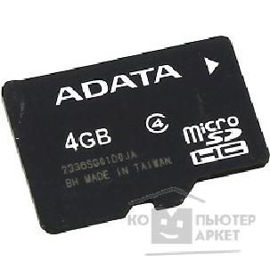 Карта памяти  A-data Micro SecureDigital 4Gb  AUSDH4GCL4-R