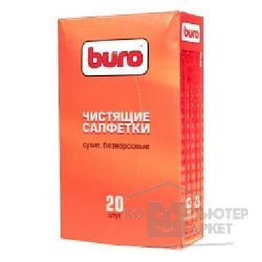 Сухие чистящие салфетки BURO BU-Udry, безворсовые, 20шт. [817443]/BU-Udry 817443
