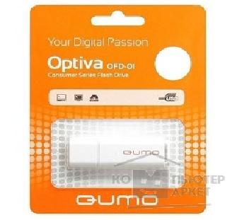 Носитель информации Qumo USB 2.0  64GB Optiva 02 White [QM64GUD-OP2-white]