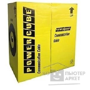 Кабель PowerCube [PC-UPC-5004E-SOL] Кабель UTP кат.5e, 4 пары, 0.48 mm 305 м pullbox , CCA однож.