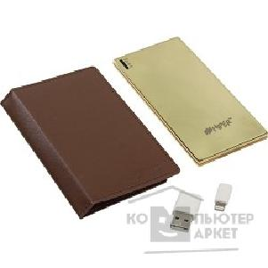 ���������� Hiper Power Bank SLIM3500+ Golden Mirror ����������� ������� ����������� ������������, 3500mAh, MFI Apple Lightning, ���������� ������