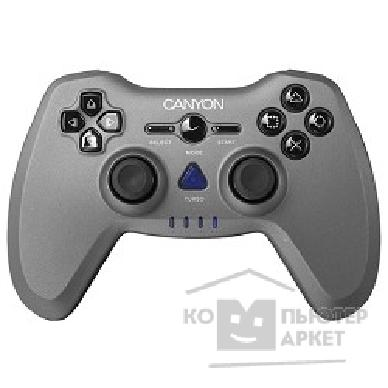 Геймпад Canyon CNS-GPW6 3in1 wireless gamepad, up to 8 hours of play time, transmission distance up to 10m, rubberized finishing, dual-shock vibration Compatible with PC, PS2, PS3