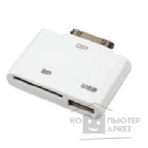 ���������� Oxion ADP007 ������� ��� ������ SD-����, iPhone 30-pin M - SD/ USB F , ����� OX-APD007WH