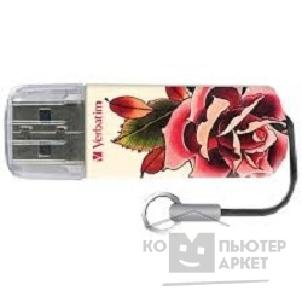 носитель информации Verbatim USB Drive 32Gb Mini Tattoo Edition Rose 49896
