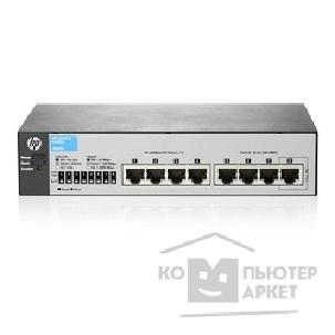 Сетевое оборудование Hp J9800A  1810-8 Switch WEB-Managed, 7*10/ 100 + 1 10/ 100/ 1000, Fanless design, desktop