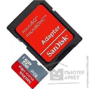 Карта памяти  SanDisk Micro SecureDigital 32Gb  SDSDQU-032G-U46A