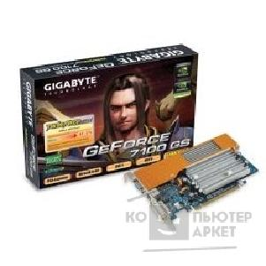 Видеокарта Gigabyte GV-NX71G256P4 RH , RTL GF 7100GS, 256Mb DDR, TV-out, DVI  PCI-E