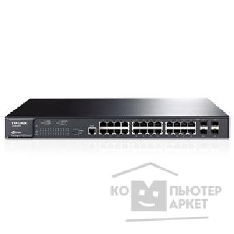 Сетевое оборудование Tp-link TL-SG3424P 24-Port Gigabit L2 Managed PoE+ Switch. 24 10/ 100/ 1000Mbps RJ45 ports support 802.3at/ af PoE compliant with a total power supply of 320W. Inculuding 4 combo 1000Mbps SFP slots. Sup