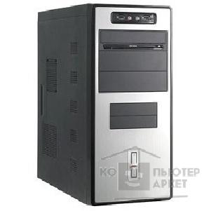 Корпус SuperPower MidiTower SP 6233-A1 Черно-серебр.  350W  USB/ AU PW 1 24 Pin SATA