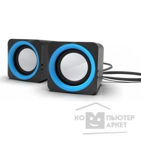 RITMIX SP-2025 Black-blue {5 Вт (2*2,5 Вт), 45 мм, USB, jack 3.5 мм,  60-20000 Гц, рег. громкости, 62*62*65 мм, черный-синий}/RITMIX SP-2025 Black-blue 80000688