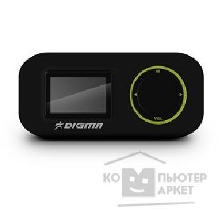 "Плеер Digma 649285 Плеер Flash  R1 4Gb Black 1.1"" FM / MP3/ WMA/ WAV/ Micro SDHC/ Clip"
