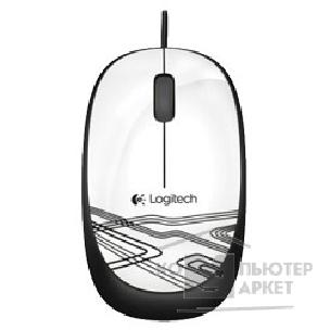 Мышь Logitech 910-003117  Mouse M105 Optical Mouse USB White Ret