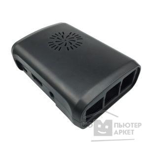 Raspberry Корпус с вентилятором и радиаторами для Raspberry Pi 3 model B / Raspberry Pi 2 model B / Raspberry Pi model B+ (овальный, цвет черный) (42459)/Raspberry Pi 42459 42459