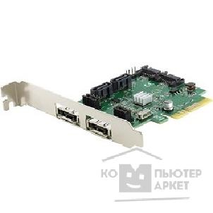 Контроллер Espada < FG-EST11B-1-CT01 > RTL PCI-Ex4, SATA 6Gb / s, 2port-ext, 4port-int, RAID, Hyper Duo