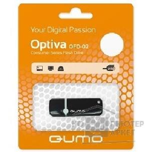 Носитель информации Qumo USB 2.0  8GB Optiva 02 Black [QM8GUD-OP2-black]