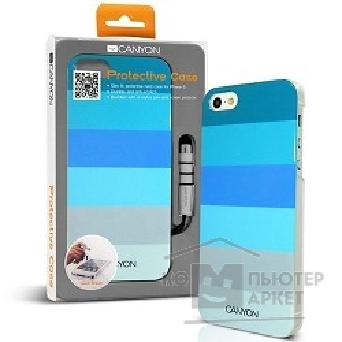 Чехол Canyon CNA-I5C02BL iPhone5 IML case with stylus and screen protector, Blue, Retail external color: blue