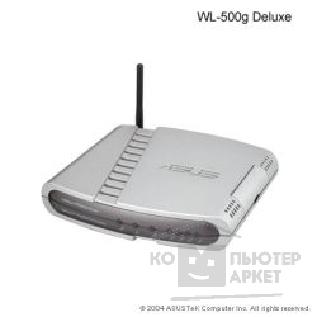 Сетевое оборудование Asus WL-500G Deluxe, Wireless 4-in-1 Router 802.11b/ g, 1xWAN+2xUSB2.0+4xUTP + Б.П.
