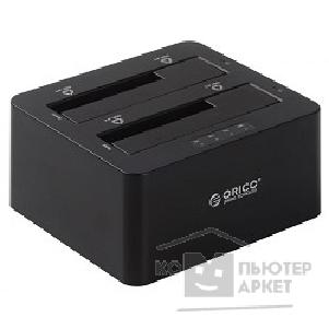 "Док-станции для HDD Orico  6629US3-C-BK Док-станция для HDD 6629US3-C; 2-bay 3.5""/ 2.5"" HDD 3TB*2 Max черный"