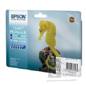 Расходные материалы Epson C13T04874010  картридж MultiPack R200/ R300 Cyan,Magenta,Yellow,Black,Cyan light,Magenta light  cons ink