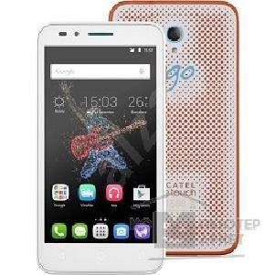 Мобильный телефон Alcatel  7048X GO PLAY White/ Orange+White [7048X-2CALRU7]