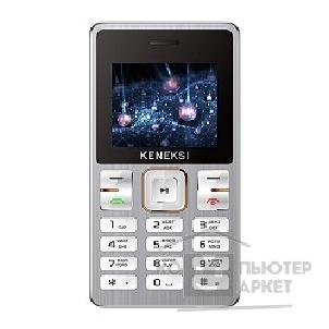 Кенекси KENEKSI M2 Silver, 1.77'' 128x160, up to 16GB flash, 0.3Mpix, 2 Sim, 2G, BT, 650mAh, 84g, 97,5x51,2x11,7