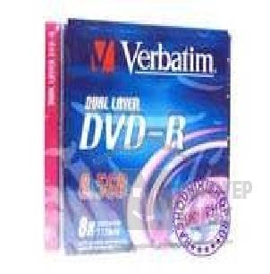 Диск Verbatim 43595 Диски DVD-R  8-x, 8.5Gb, Dual Layer, Jewel Case