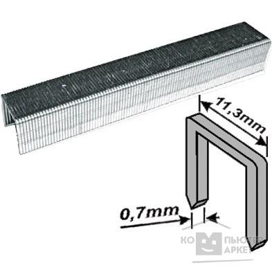 FIT IT Скобы для степлера закалённые прямоугольные 11,3 мм х 0,7 мм  (узкие тип 53)  6 мм, 1000 шт. [31306]/FIT 31306 31306 FIT