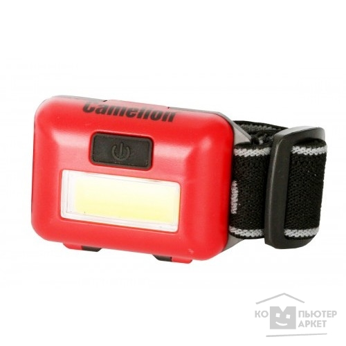 Camelion LED5357  (фонарь налобн,  красн., 1Вт COB LED, 3 реж, 3XAAA, пласт, блист)/Camelion 13633 13633
