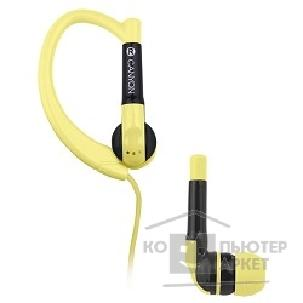 Canyon Наушники,  sport earphones, over-ear fixation, inline microphone, yellow. 7ACNSSEP1Y