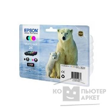 ��������� ��������� Epson C13T26164010 �������� ���  Expression Premium XP-600, 605, 700, 800, ����� �� 4 ������, 26 4clr Pig BK, CY, MA, YE cons ink