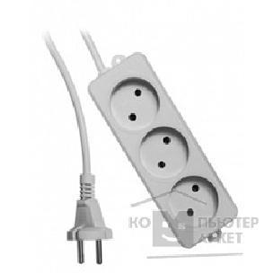 Gembird Удлинитель Гарнизон EL-NL3-W-2, 3 розетки  допустимый ток 10А, длина 2м. /Гарнизон EL-NL3-W-2 EL-NL3-W-2