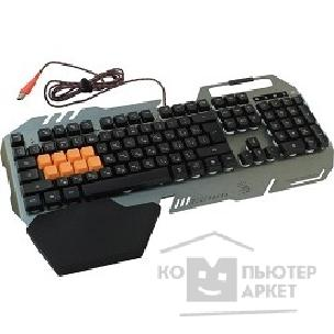 Клавиатура A-4Tech Keyboard A4Tech Bloody B418 black/ Gray USB Multimedia Gamer LED подставка для запястий
