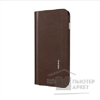 Чехол Ozaki O!coat Aim + Leather folio case with pocket for iPhone 6 Plus. Brown OC582BK