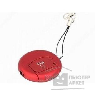���������� ���������� Orient USB 2.0 Card Reader Micro  MS-01 Red, ��� ���� Micro SD, ext