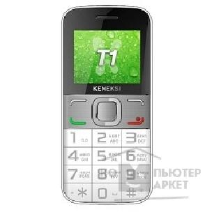 Кенекси KENEKSI T1 White, 2'' 176x220, up to 16GB flash, 0.3Mpix, 2 Sim, 2G, BT, 1000mAh, 97g, 121,8x55,5x13,5