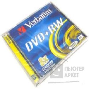 Диск Verbatim DVD+RW  8-x, 4.7 Gb, Jewel Case [43527/ 43526] диски