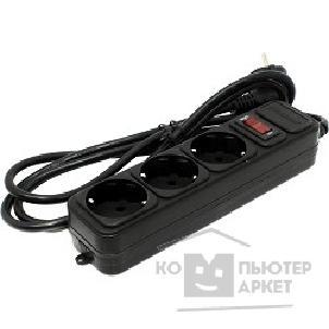 Exegate EX221176RUS Сетевой фильтр Exegate SP-3-1.8B (3 розетки, 1.8м, евровилка, черный)/Exegate SP-3-1.8B EX221176RUS