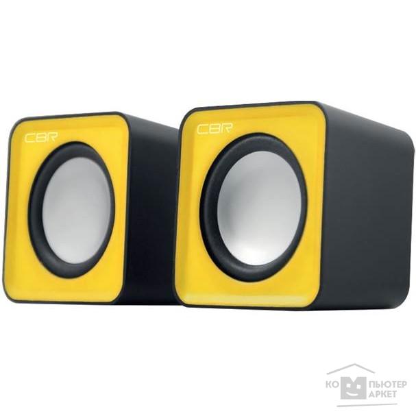 CBR CMS 90 Yellow, Акустическая система 2.0, питание USB, 2х3 Вт (6 Вт RMS), материал корпуса пластик, 3.5 мм линейный стереовход, регул. громк., длина кабеля 1 м, цвет жёлтый/CBR CMS 90 CMS 90 Yellow