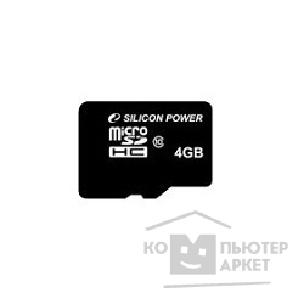 MicroSD Silicon Power SP004GBSTH010V10-SP 4 Гб