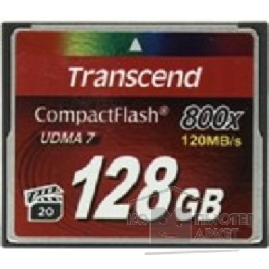 Карта памяти  Transcend Compact Flash 128Gb , High Speed TS128GCF800 800-x