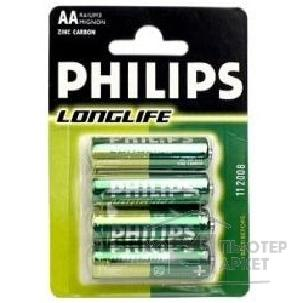 Philips ��. ���.  R6-4BL Long Life �������  4 ��. � ��-��