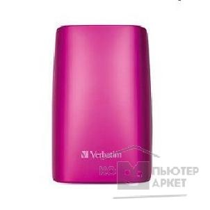носители информации Verbatim HDD 500Gb  USB2.0 Portable HDD [47642/ 53010] Hot Pink