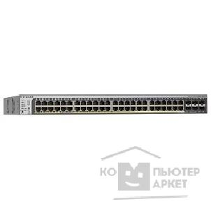 Сетевое оборудование Netgear GS752TSB-100EUS Managed Smart-switch with 46GE+2SFP Combo +2SFP ports with static routing and IPv6, stackable containing AGC761 cable